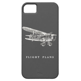 Aeroplano del vintage, planes de vuelo iPhone 5 fundas