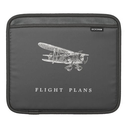 Aeroplano del vintage, planes de vuelo manga de iPad