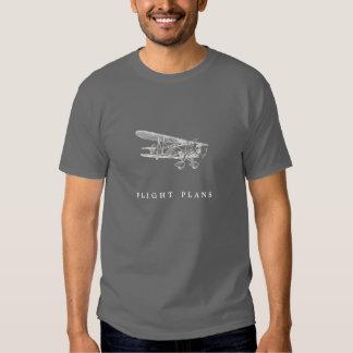 Aeroplano del vintage, planes de vuelo remera
