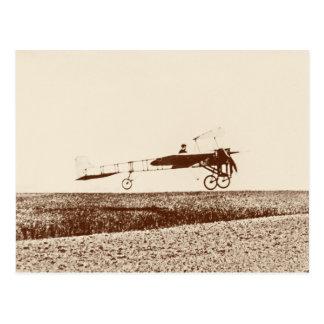 Aeroplano del vintage que saca la postal