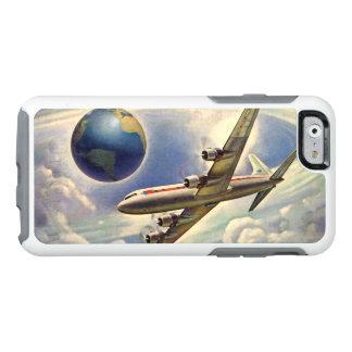 Aeroplano del vintage que vuela en todo el mundo funda otterbox para iPhone 6/6s