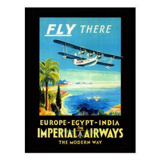 Aeroplano del vintage - regalos y saludos del postales