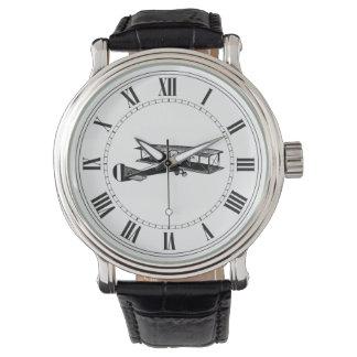 Aeroplano del vintage relojes de mano