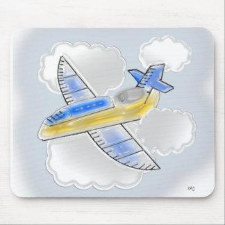 Aeroplano dimensional del jet alfombrillas de raton