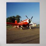 Aeroplano estupendo del corsario de F2G-1D en un s Impresiones