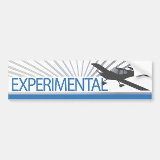 Aeroplano experimental del ala baja pegatina de parachoque