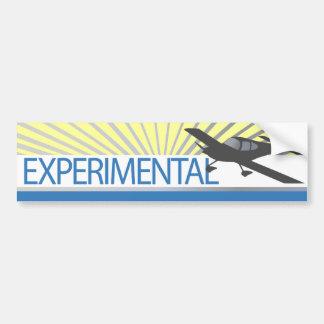Aeroplano experimental del ala baja etiqueta de parachoque