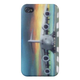 aeroplano fresco iPhone 4/4S carcasas