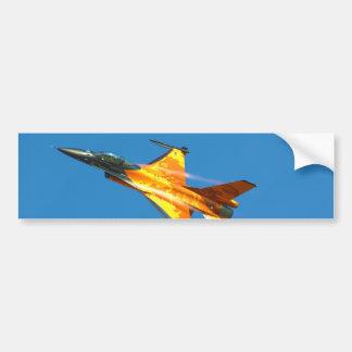 Aeroplano holandés del jet del halcón que lucha F- Pegatina Para Auto