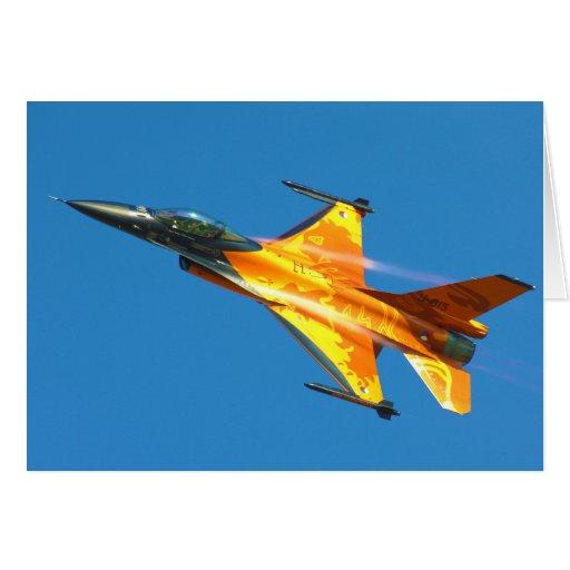 Aeroplano holandés del jet del halcón que lucha F- Tarjeta