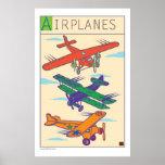 Aeroplano-Impresión Poster