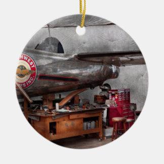 Aeroplano - la suspensión de la reparación ornamento de navidad