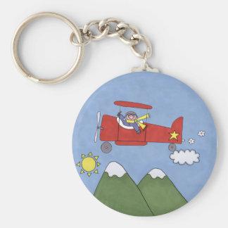 Aeroplano Llavero Redondo Tipo Pin