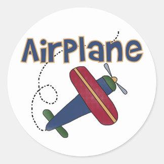 Aeroplano Pegatina Redonda