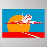 aeroplano plano del Jumbo que saca el poster