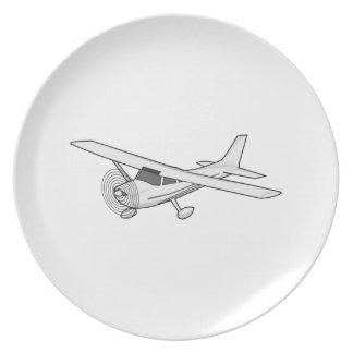 Aeroplano Plato Para Fiesta