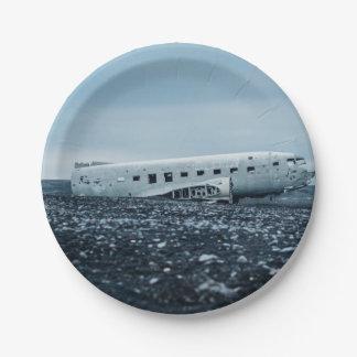 aeroplano plato de papel de 7 pulgadas