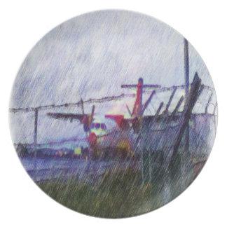 Aeroplano Plato De Cena