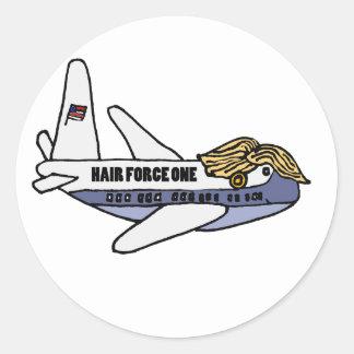 Aeroplano presidencial divertido de Donald Trump Pegatina Redonda