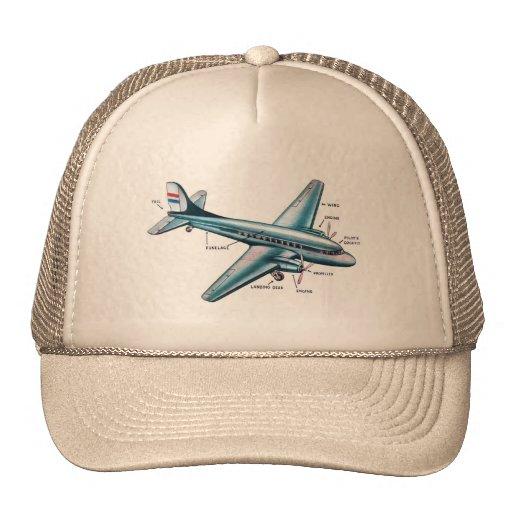 Aeroplano retro del apoyo de los años 50 del kitsc gorras