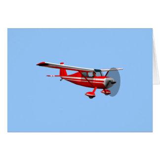 Aeroplano rojo tarjetas