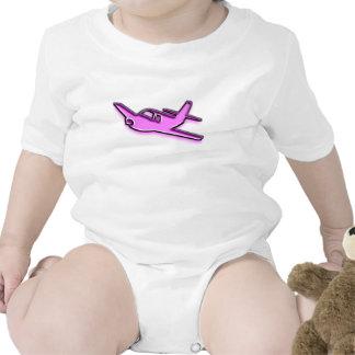 Aeroplano rosado trajes de bebé