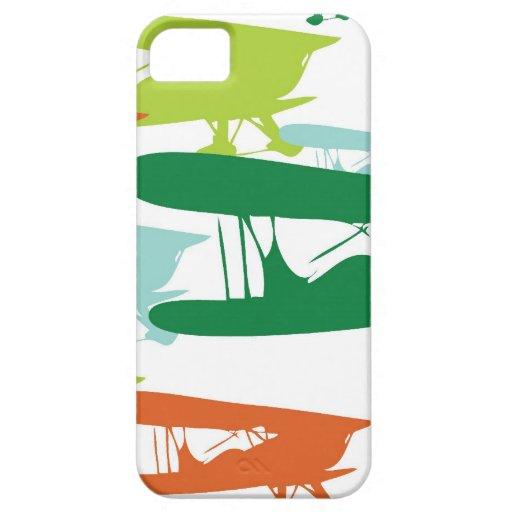 Aeroplano solo Desi del gorrión del biplano retro  iPhone 5 Case-Mate Protector
