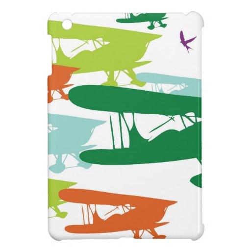 Aeroplano solo Desi del gorrión del biplano retro  iPad Mini Cárcasa