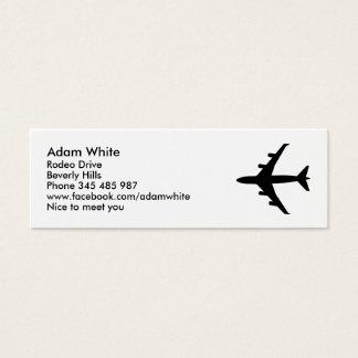 Aeroplano Tarjetas De Visita Mini