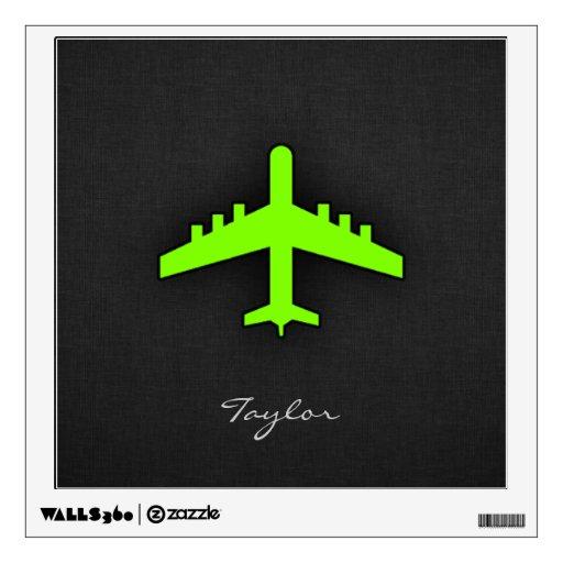 Aeroplano verde chartreuse, de neón