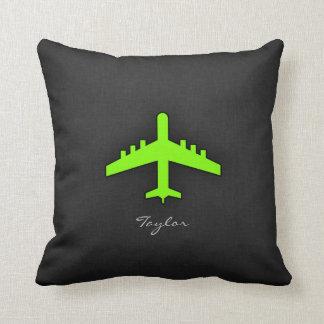 Aeroplano verde chartreuse, de neón cojines