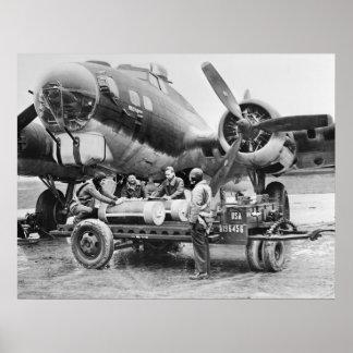 Aeroplano WW2 y equipo: los años 40 Poster