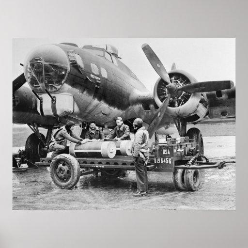 Aeroplano WW2 y equipo: los años 40 Póster