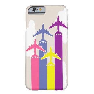 Aeroplanos coloridos funda de iPhone 6 barely there