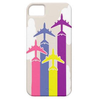 Aeroplanos coloridos iPhone 5 carcasa