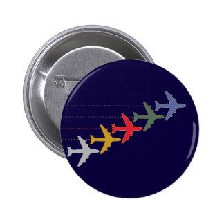 aeroplanos coloridos pin redondo de 2 pulgadas