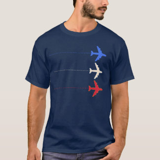 Aeroplanos de Estados Unidos Playera