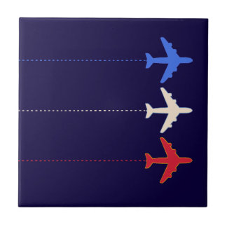 aeroplanos de las líneas aéreas azulejo cuadrado pequeño