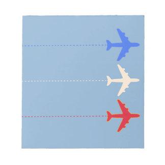 aeroplanos de las líneas aéreas blocs