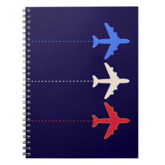aeroplanos de las líneas aéreas cuadernos