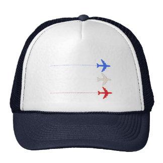 aeroplanos de las líneas aéreas gorras