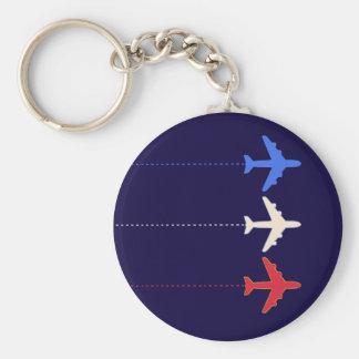 aeroplanos de las líneas aéreas llavero redondo tipo pin