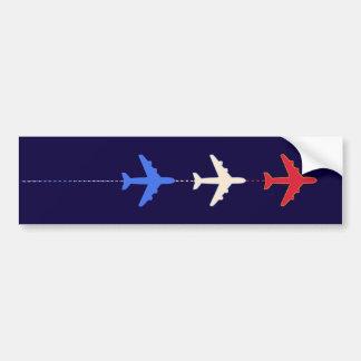 aeroplanos de las líneas aéreas pegatina para auto