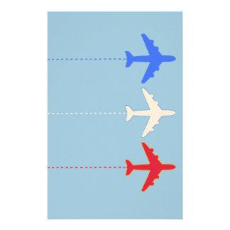 aeroplanos de las líneas aéreas personalized stationery