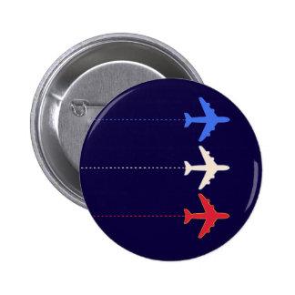 aeroplanos de las líneas aéreas pin redondo de 2 pulgadas