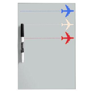 aeroplanos de las líneas aéreas pizarras
