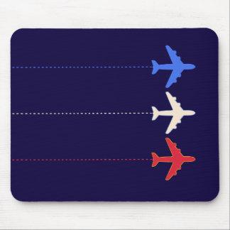 aeroplanos de las líneas aéreas tapete de raton