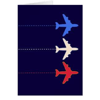 aeroplanos de las líneas aéreas tarjeta de felicitación