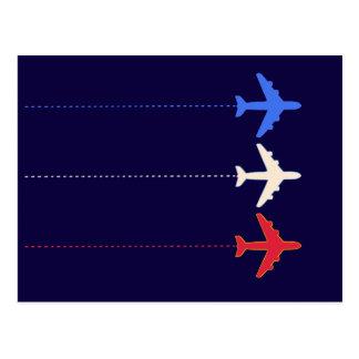 aeroplanos de las líneas aéreas tarjetas postales