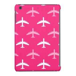 Aeroplanos de las rosas fuertes y del blanco funda para iPad mini retina